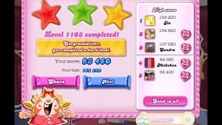 Candy Crush Saga Level 1103 NEW ★★★ NO BOOSTER