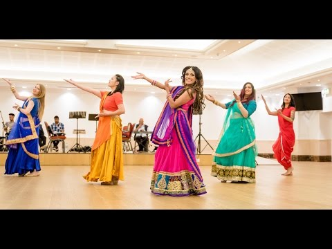 Dola Re Dola - Beautiful Sangeet Dance by Binita Dance & Mahira Girls