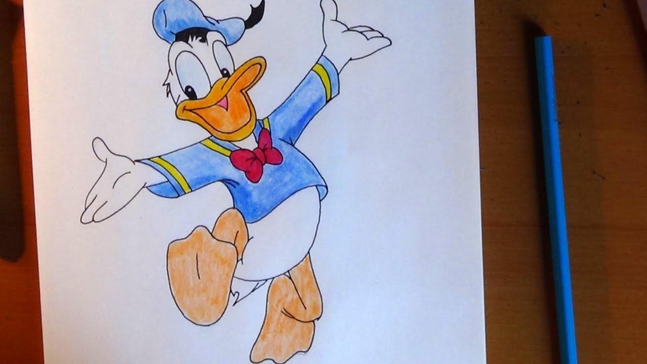 How To Draw Donald Duck, C�mo Dibujar El Pato Donald, �� ��������  ������� ���