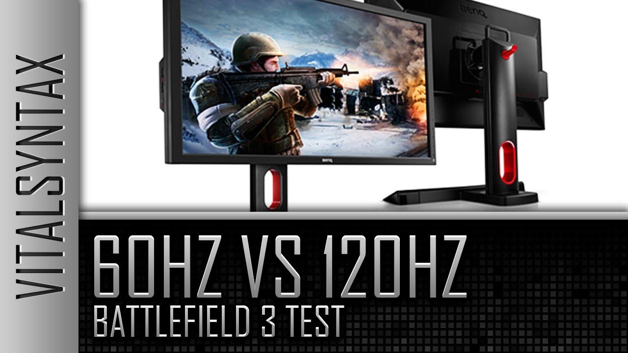 60hz vs 120hz Battlefield 3 Test
