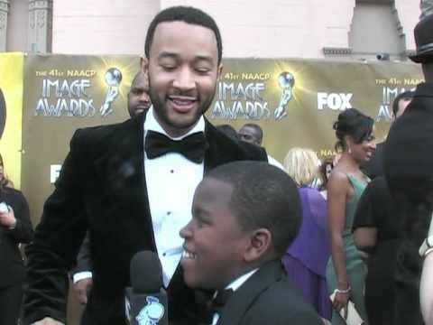 Damon Weaver & Jalyn Mitchell Interview John Legend at the 2010 NAACP Image Awards