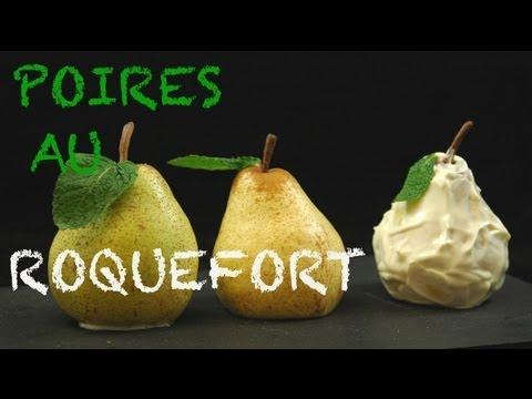 Recette : Les poires au Roquefort