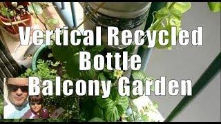 Vertical Recycled Bottle Balcony Garden