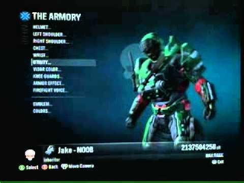 How do you hack your credits on halo reach