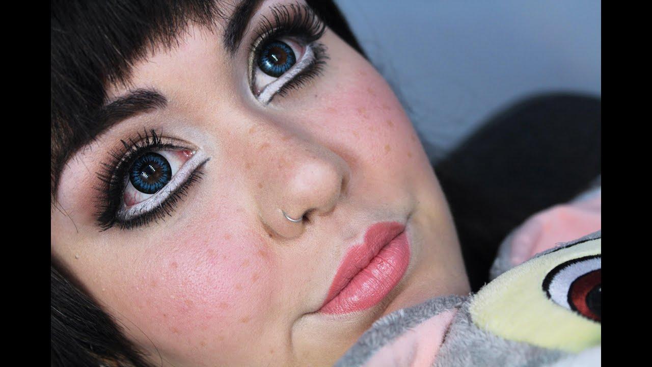 maquillaje ojos muñeca