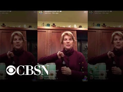 Elizabeth Warren drinking a beer on Instagram Live gets mixed reactions