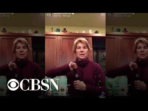 Michael Berry - Elizabeth Warren drinking a beer on Instagram