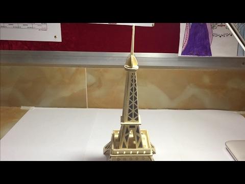 DIY 3D Wood Craft Construction Kit  Eiffel Tower