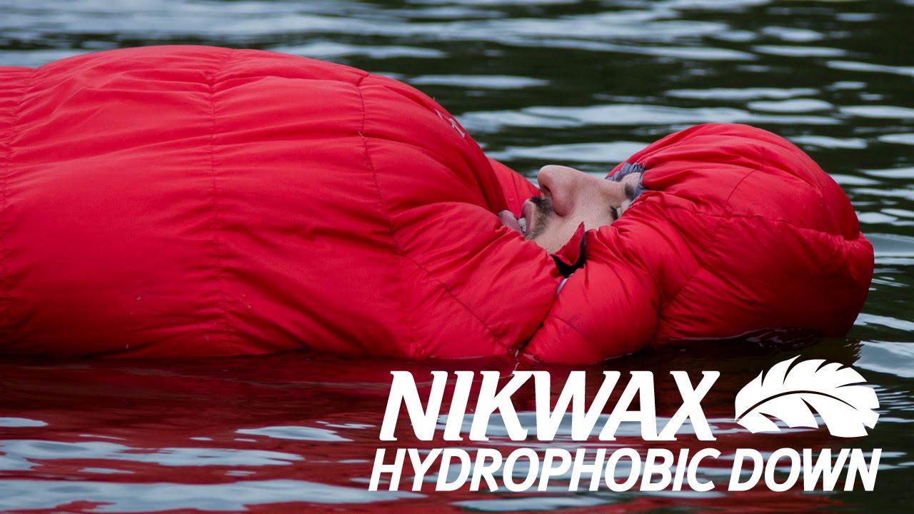 Nikwax: The floating sleeping bag