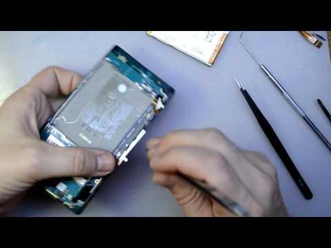 Sony Xperia C C2305 замена шлейфа кнопки включения и громкости