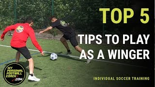 Soccer Training - Top 5 Tips To Play As A Winger Or Wide Forward Like Ronaldo & Hazard