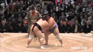 照ノ富士 vs 碧山 の取組。 2016大相撲春場所2日目。