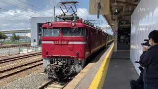 2021/05/25 215系NL-4編成 青森配給(配8829レ) 青森駅発車→構内回送の様子