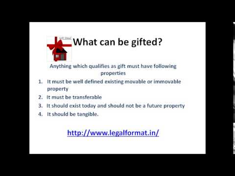 Gift deed Format and its Registeration - YouTube
