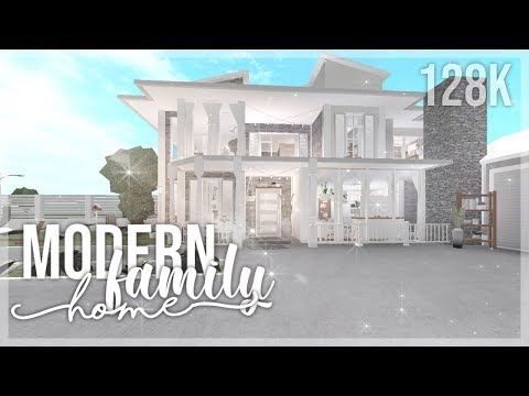 Bloxburg Modern Family Home Youtube