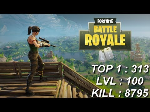 [FR/PC/LIVE] Fortnite en solo lvl 5 / 313 wins / kill 8,795 Nouvelle mise à jour!