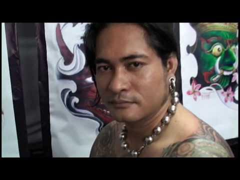 Amazing Thailand Mr Jirst Getting Tattooed by 2 Tat Artists High Speed Cranked Jirst Tattoo