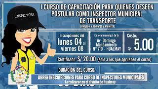 INICIO DE INSCRIPCIONES DEL CURSO DE INSPECTORES