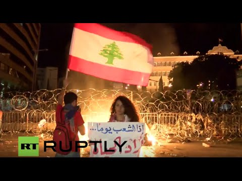 LIVE: Protests continue on Beirut's streets
