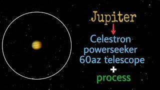 Jupiter through celestron powe…