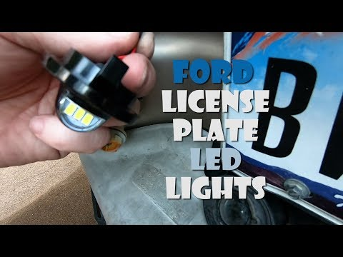 Change or Replace your FORD license plate bulbs quick and easy