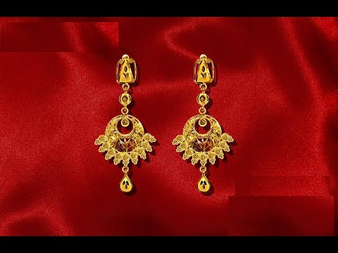 Latest Gold Earrings Designs Light Weight Jewellery Collections