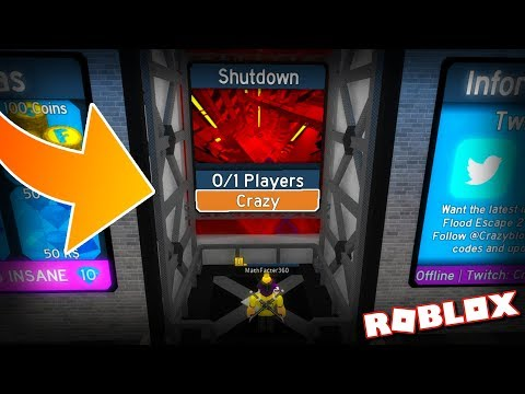 Roblox Flood Escape Secret Wall Get 5 000 Robux For Completing Insane Levels First Try Flood Escape 2 On Roblox 18 Youtube