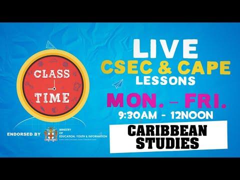 CAPE Caribbean Studies 11:15AM-12PM   Educating a Nation - October 20 2020