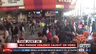 Eight people detained in fight on Fremont Street after MLK parade