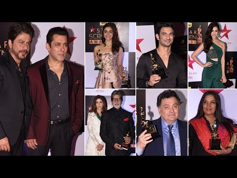 Star Screen Awards 2016 Full Show Red Carpet | Shahrukh Khan, Salman Khan & MORE