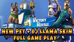 new pet in fornite bonesy dog dj llama dj yonder skin full gameplay victory royale season 6 duration 13 09 - fortnite season 6 dj yonder