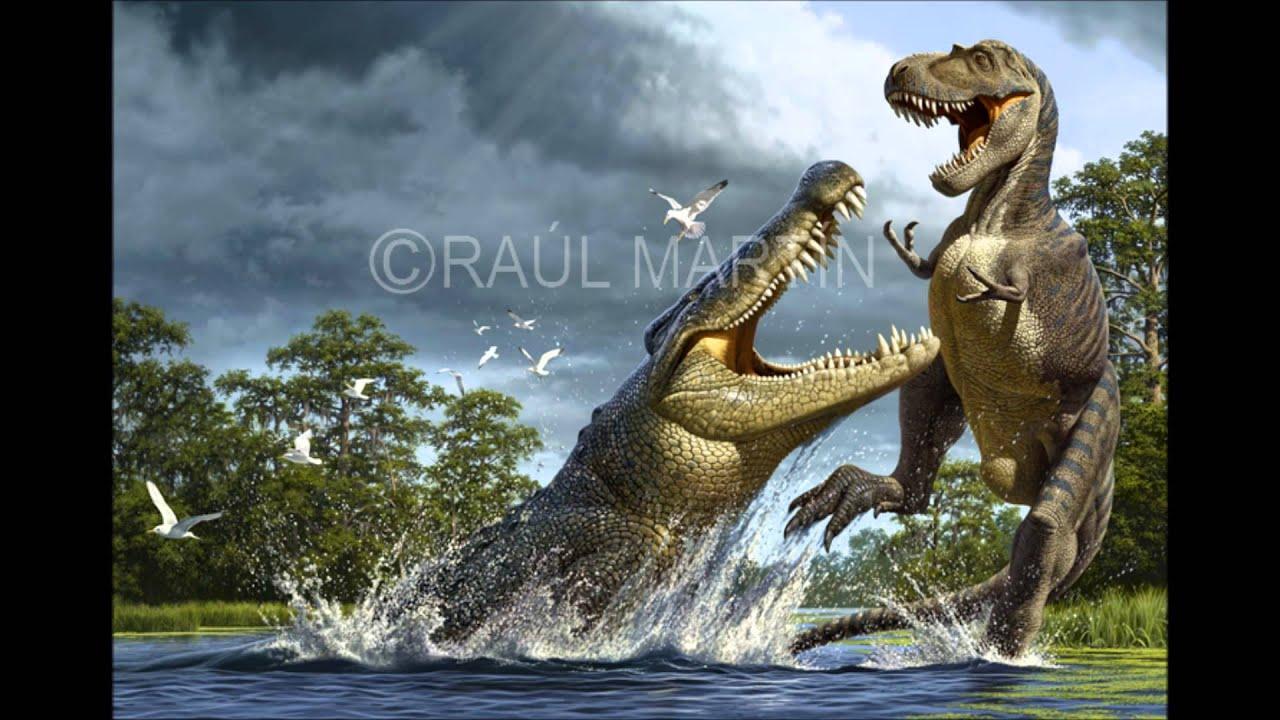 Sarcosuchus Imperator VS Carcharodon Megalodon - YouTube