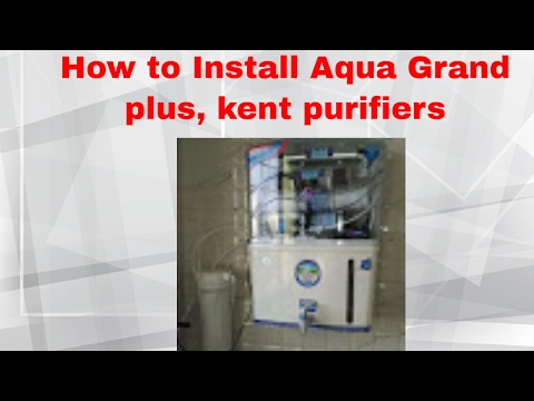 Installing RO Water Purifier, Kent type ,Aquagrand + RO+ UV + UF Mineral , Nasik.