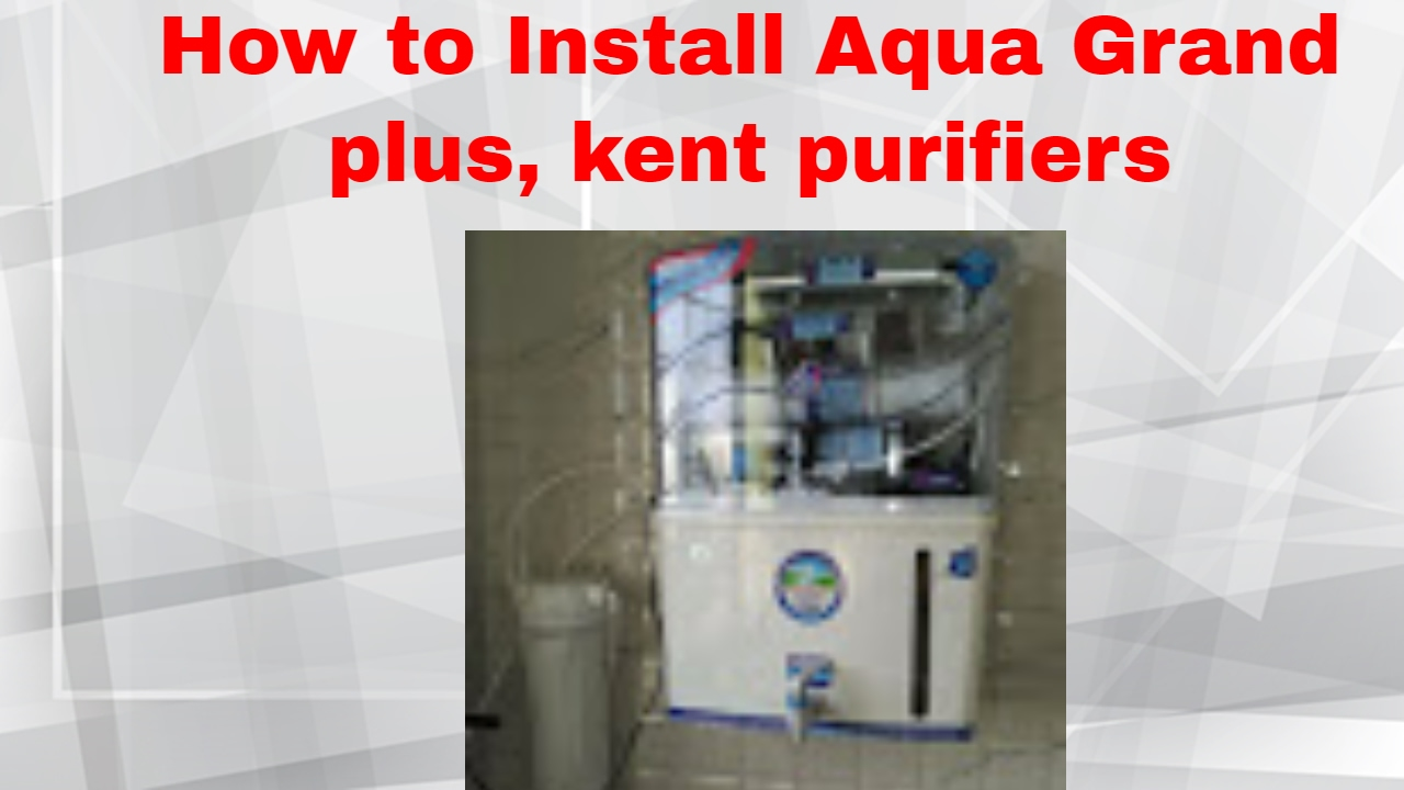 450aac5f7 Installing RO Water Purifier