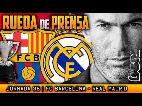 Rueda de prensa de Zidane (05/05/2018)   Previa al FC Barcelona - Real Madrid