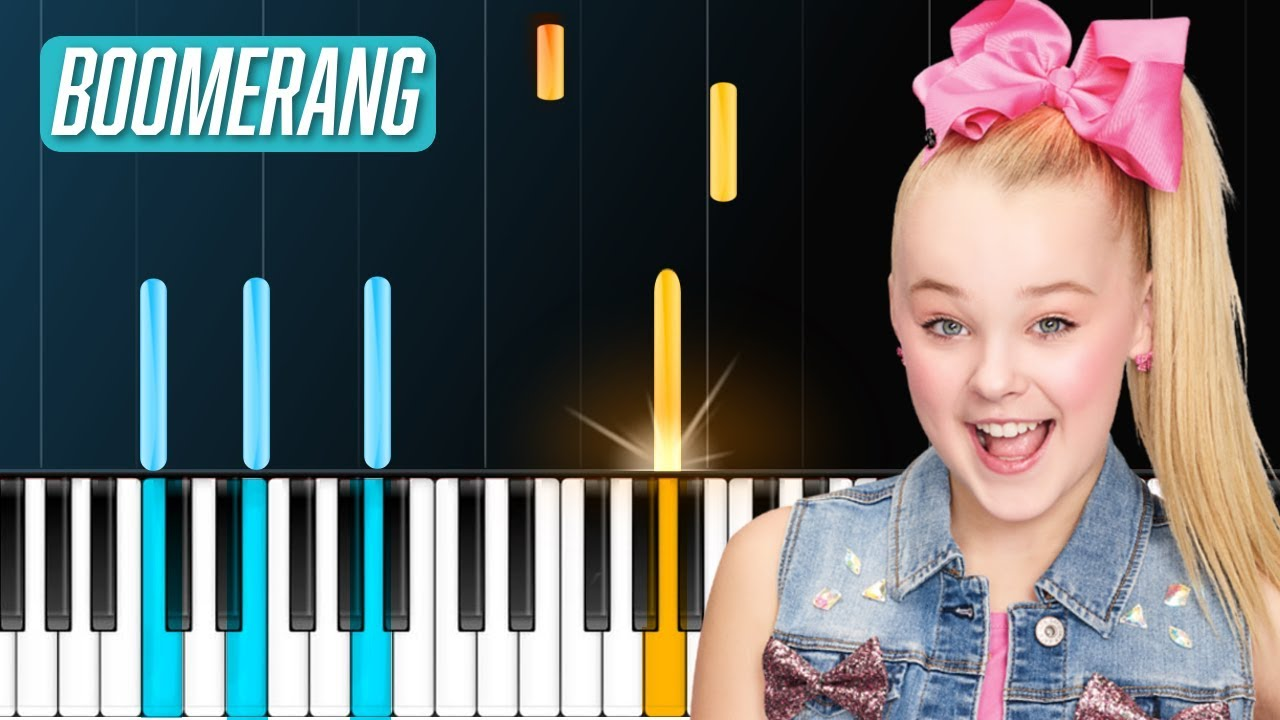 Jojo Siwa Boomerang Piano Tutorial Chords How To Play