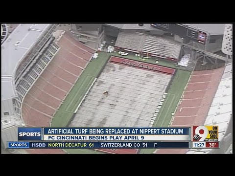Nippert Stadium's artificial turf being replaced