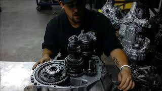 Power Flow Of A Front Wheel Drive Transaxle
