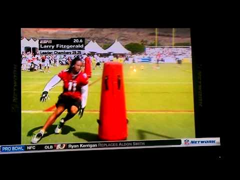 Larry Fitzgerald 1st pro bowl at skill competition