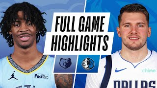 GRIZZLIES at MAVERICKS | FULL GAME HIGHLIGHTS | February 22, 2021