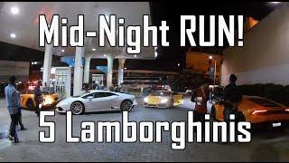 5 Lamborghinis, Insanee Drive in India