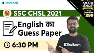 SSC CHSL English Mock Test 2021 | Guess Paper | Important Questions for SSC CHSL 2021