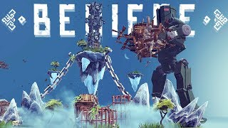 Besiege - Giant Bipedal Walker Cherno Alpha, TF2 Minigun & More! - Besiege Best Creations