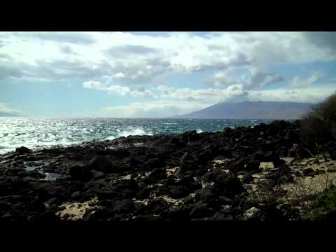 View of Molokini Crater, Kahoolawe Island and Lanai from Maui - clip 1