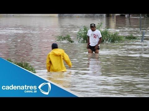 Tormenta causa desbordamiento de un río en Nuevo Laredo