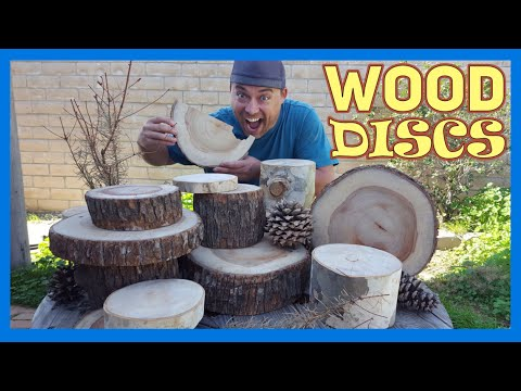 Wood Centerpieces For Tables | Make Large Wood Slices | Large Tree Trunk Round Discs