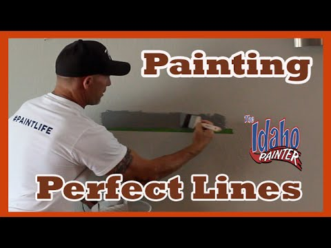 Painting Straight Lines With Caulking And Tape Stripes Hacks You