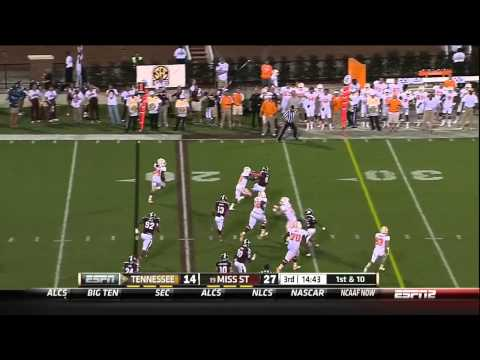 10/13/2012 Tennessee vs Mississippi State Football Highlights