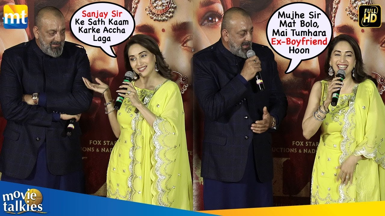 Watch Sanjay Dutt's Reaction When Ex Gf Madhuri Call Him ...