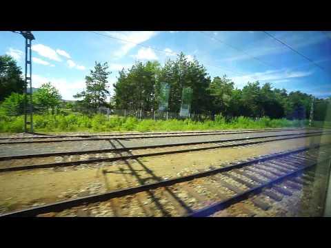 Sweden, Stockholm, train ride from Västerhaninge to Stockholm Central Station